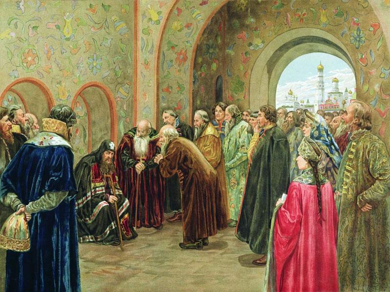 Патриарх Никон в Спасских воротах