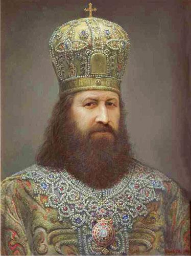 Патриарх Никон. Портрет работы В.В. Шилова