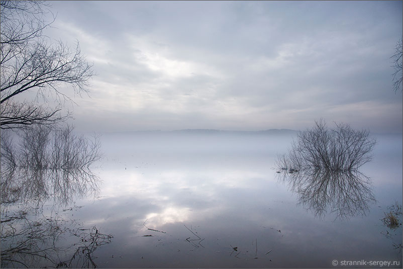 Река Ока разлив