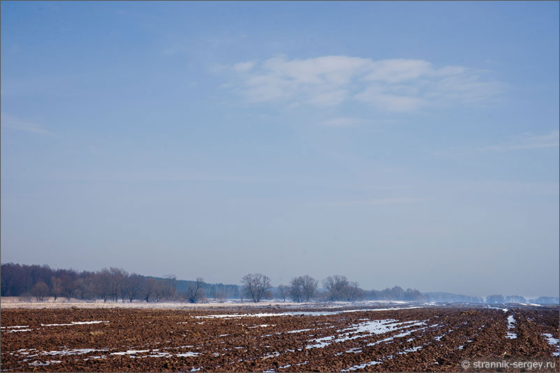 Река Ока поле