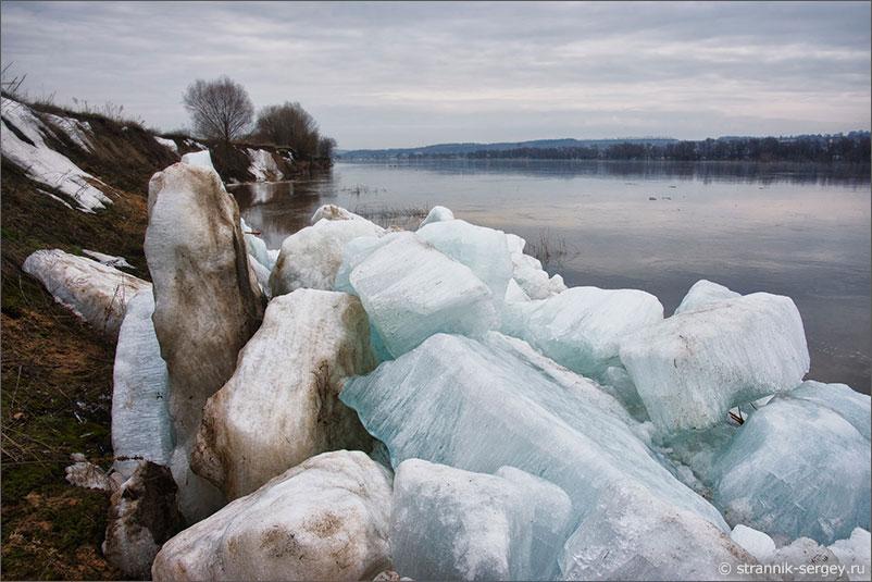 Река Ока ледоход