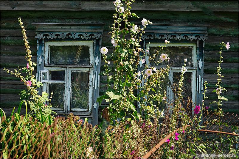 село Ознобишино старинный деревенский дом