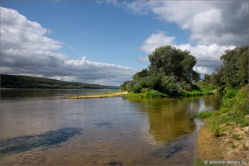 Река Ока устье реки Лопасни Сенькин брод