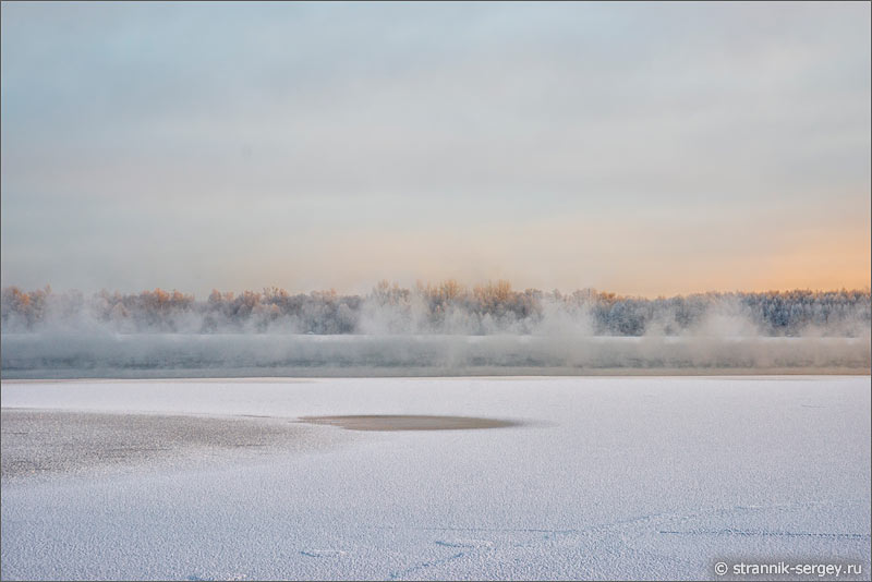 Зима Мещера озеро Святое