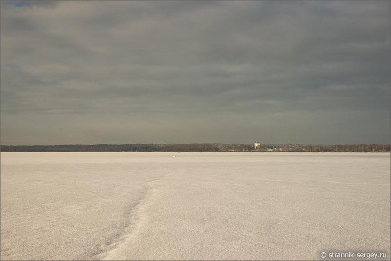 Зима озеро