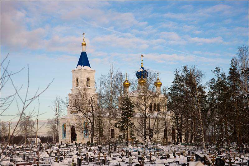 Зима Андреевские Выселки Церковь Спаса Преображения