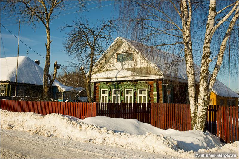 Зима старинное село