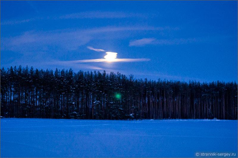 Зима зимняя ночь полнолуние