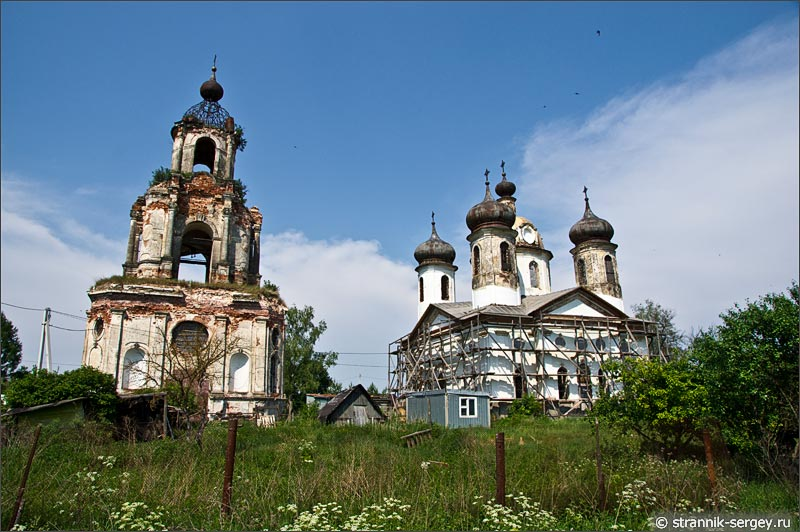 Преображенская церковь в Спасс-Косицах на Исьме