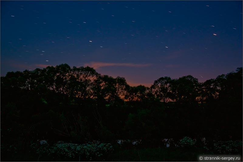 Природа ночью летняя ночь звездный ветер звездопад фото