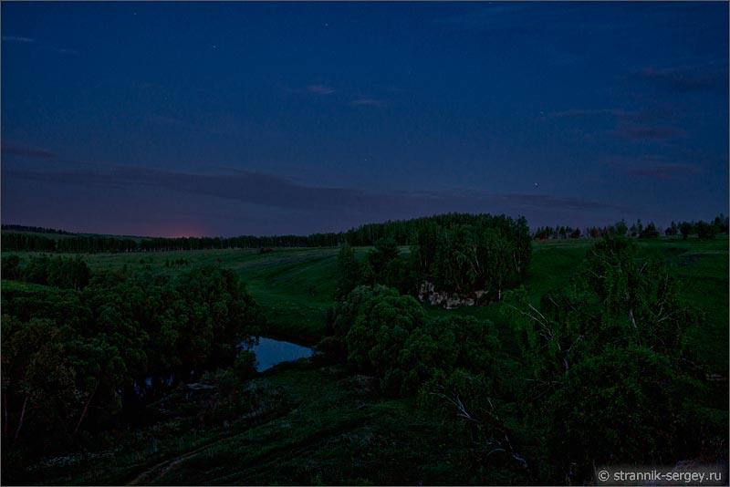 Природа ночью летняя ночь рассвет река луга поля