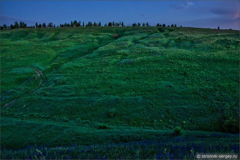 Природа ночью летняя ночь холмы