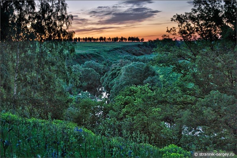 Природа ночью летняя ночь рассвет река леса