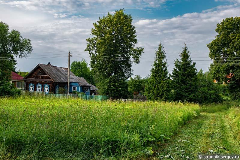 село Пречистое на реке Нерли Клязьминской