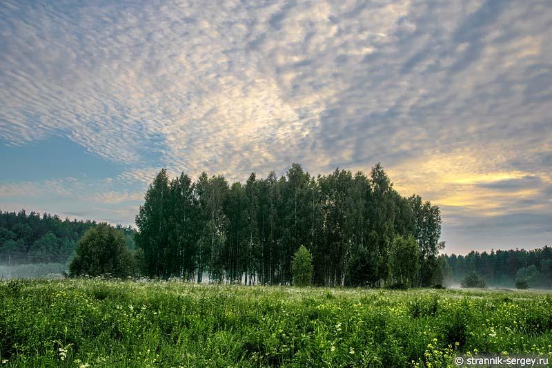 Рассвет на берегах реки Нерль Клязьминская